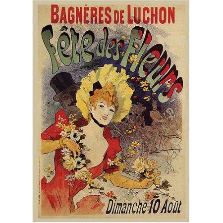 Trademark Fine Art Fete de Fleurs Canvas Art by Jules Cheret, Size: 35 x 47, Multicolor