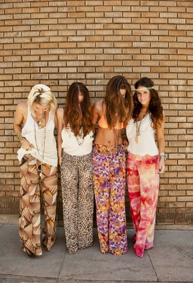 Bohemian Style Gypsy Patterned Palazzo Pants For A Modern Hippie Look