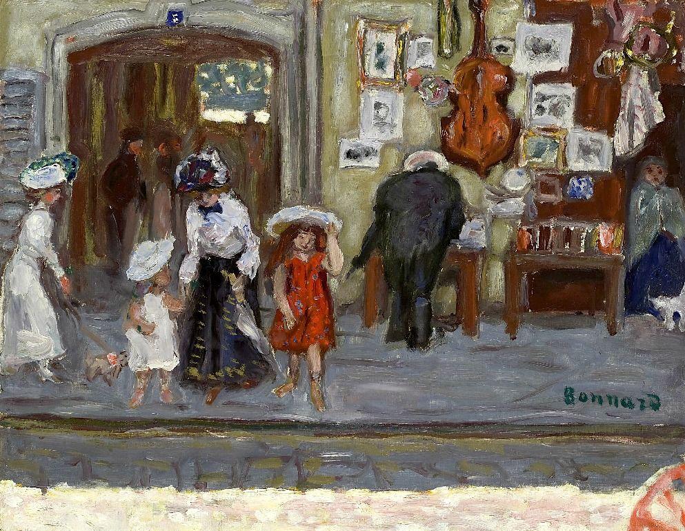 PIERRE BONNARD (1867-1947) Dans la rue (La Devanture)