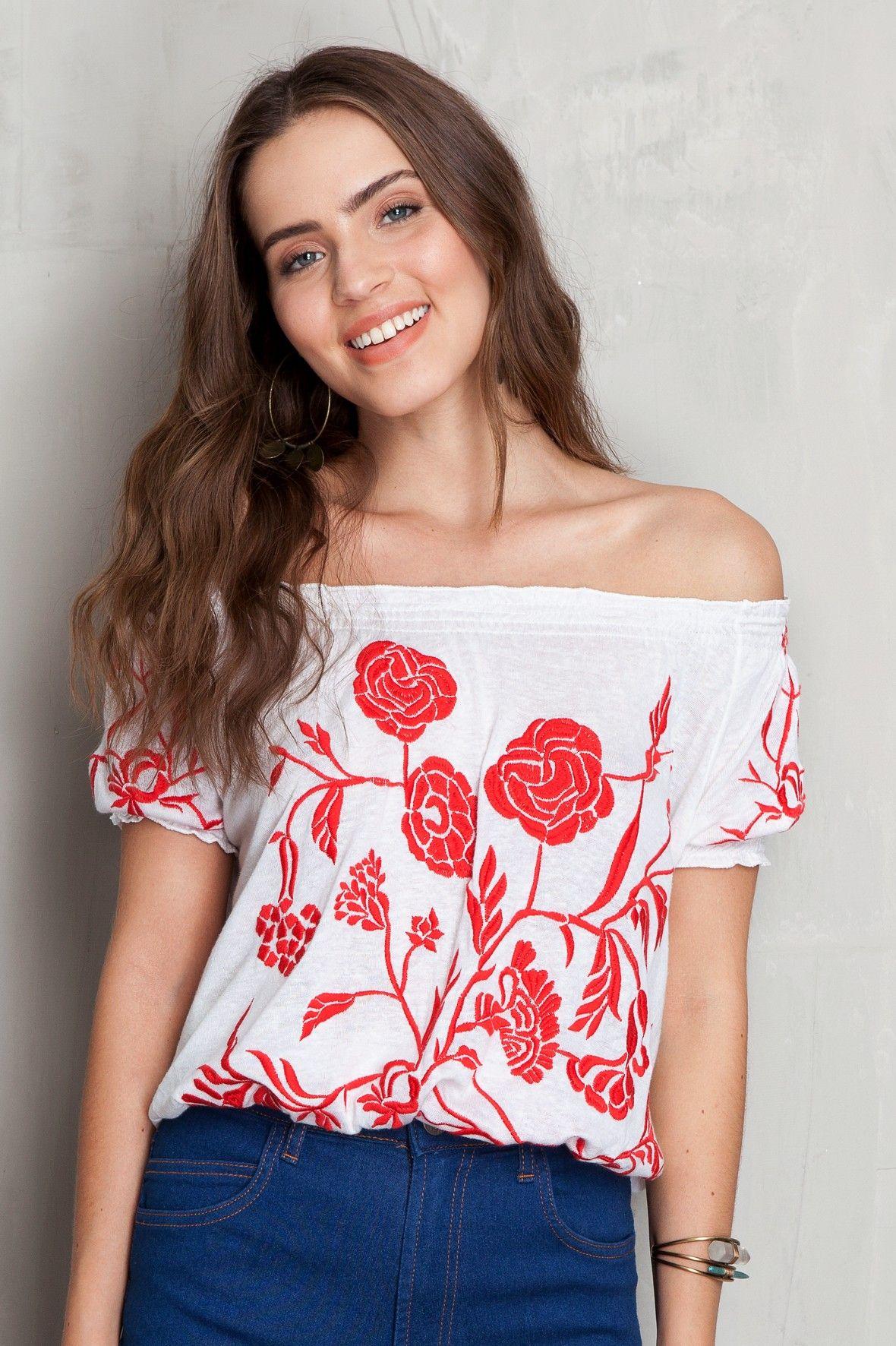 Ciganinha bordada flores | Dress to