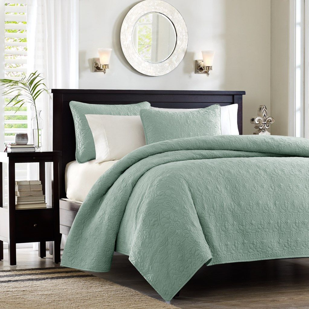Hudson Bay Seafoam Green Queen Size Coverlet Set Home