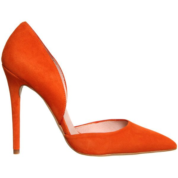 Office Panther 2 Part Court Orange Suede - High Heels