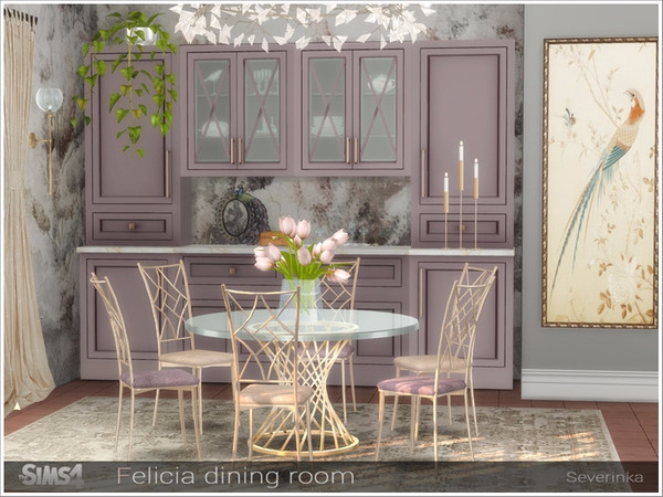 Severinka S Felicia Dining Room Sims 4 Bedroom Sims 4 Cc Furniture Dining Room Sets