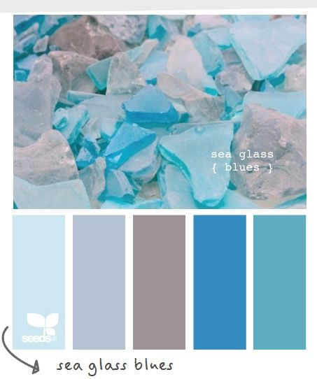9ab68a4d48 Sea glass embodies all things summer…beach, ocean, sand. It's playful and  pretty at the same time. Fun color palette for a summer wedding.