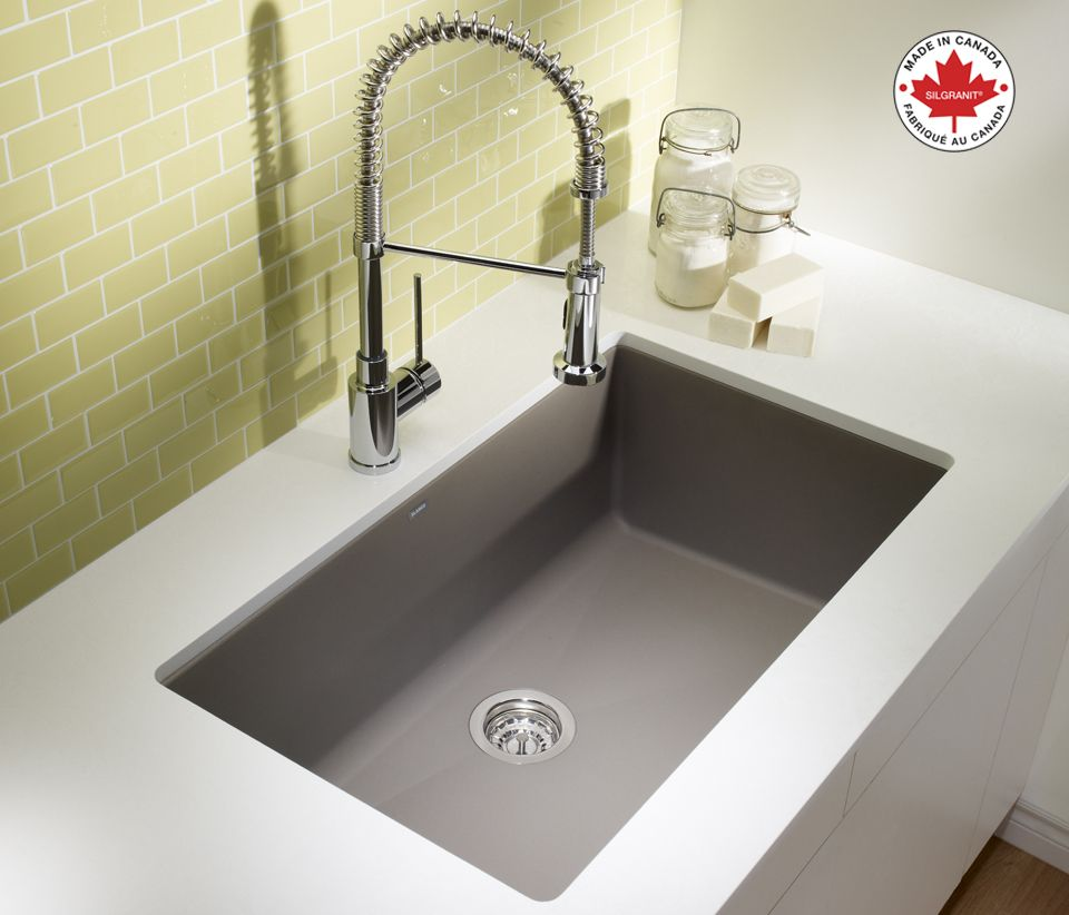 Charming Keep Clean With This BLANCO PRECIS U SUPER SINGLE SILGRANIT® Sink In  Truffle, Along