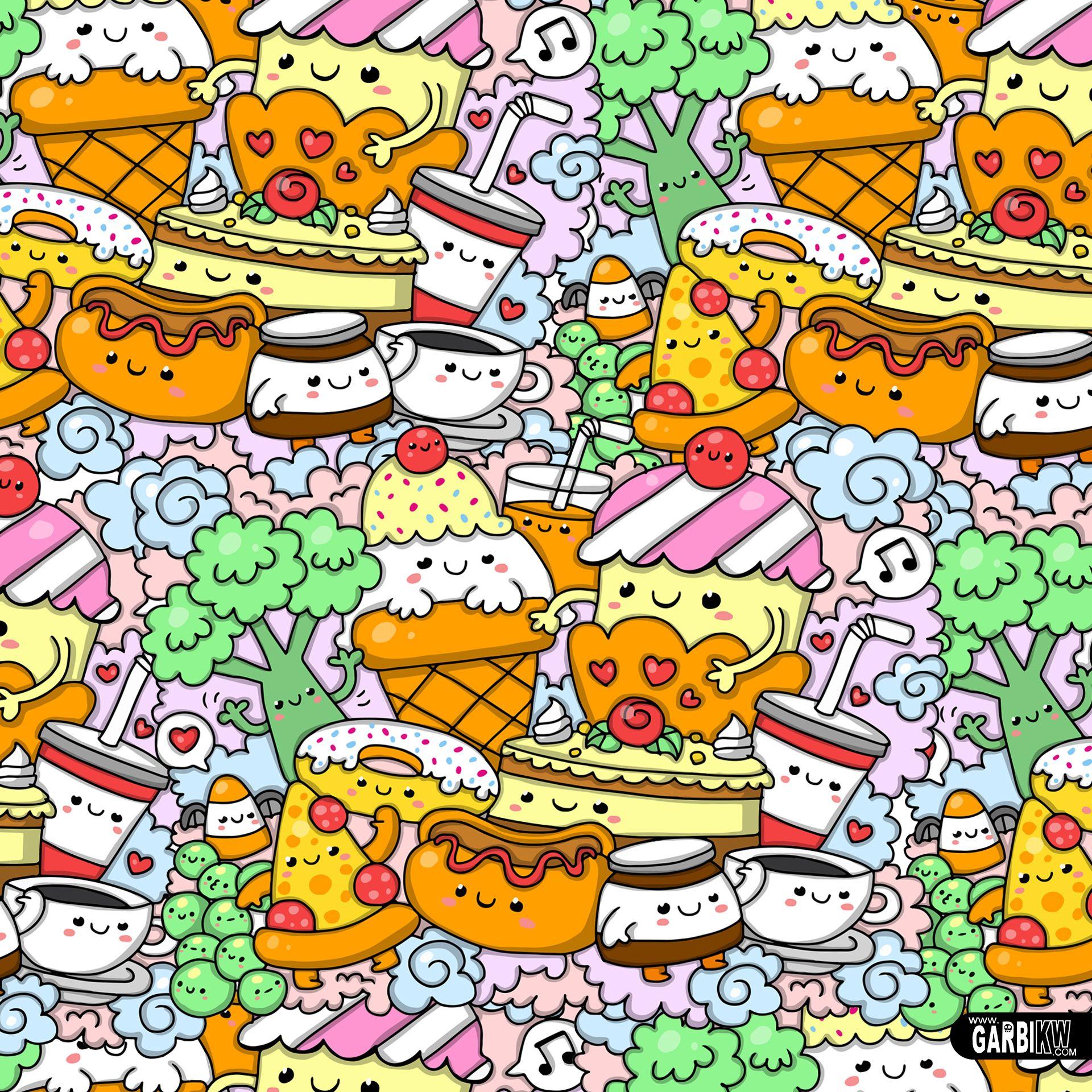 Kawaii Food Kawaiifood Gkw With Images Cute Doodles