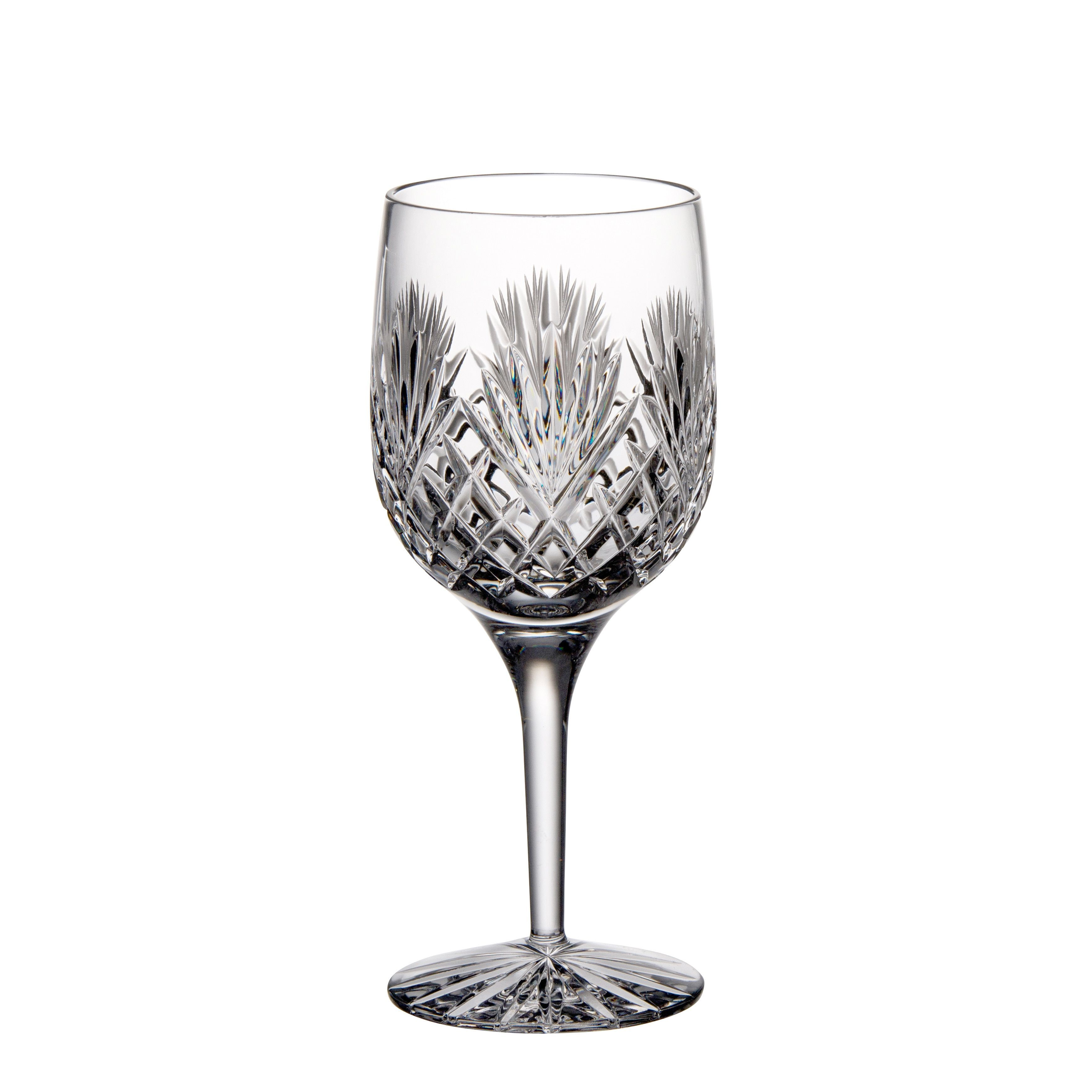 Majestic Gifts Clear Hand-cut Crystal 9-ounce Red Wine Goblet (Pack of 4) (Clear) (Glass)