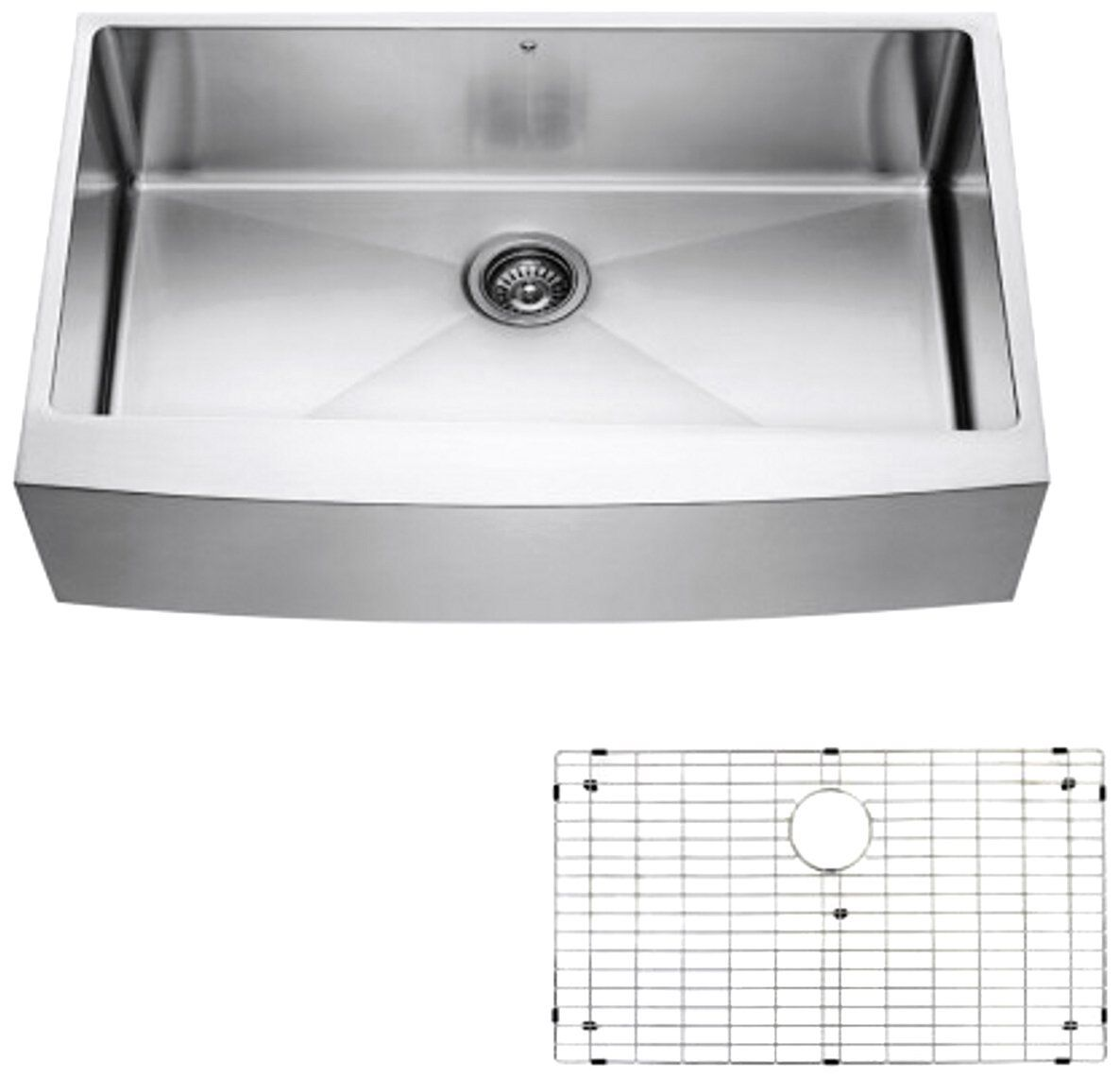 Vigo Vgr3620ck1 36 Inch Farmhouse Stainless Steel Kitchen Sink Grid And Strainer A Stainless Steel Kitchen Sink Steel Kitchen Sink Stainless Steel Kitchen