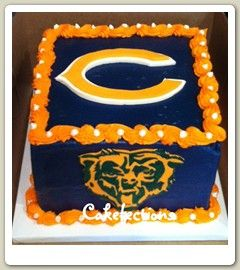 Prime Chicago Bears Birthday Cake With Images Chicago Bears Cake Funny Birthday Cards Online Kookostrdamsfinfo