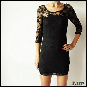 H M Czarna Koronkowa Sukienka 36 6329687391 Oficjalne Archiwum Allegro Black Short Dress Little Black Dress Short Dresses