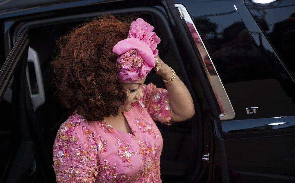 Chantal Biya arriva alla Casa Bianca il 5 agosto 2014.