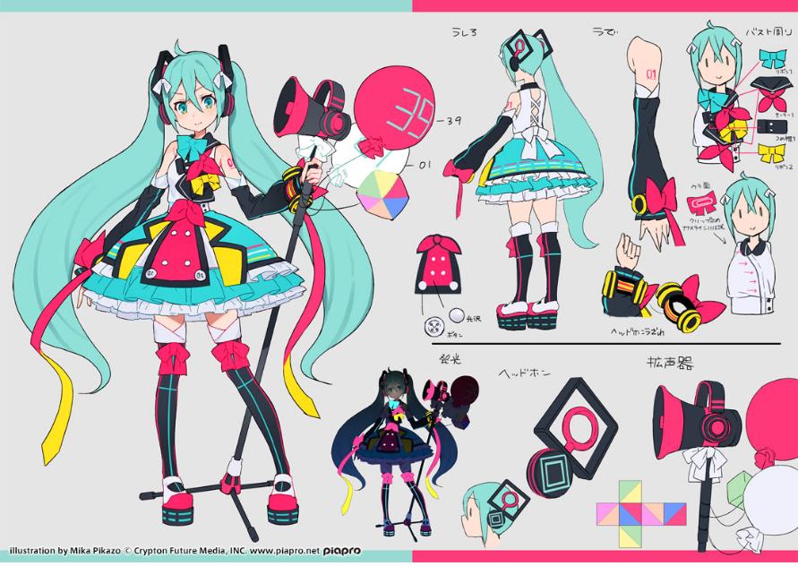 Hatsune Miku Magical Mirai 2018 concept art by Mika Pikazo