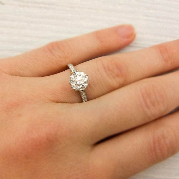 Pin By Linda Miller Favorite Things On Wedding Tiffany Setting Engagement Ring Antique Engagement Rings Tiffany Engagement Ring