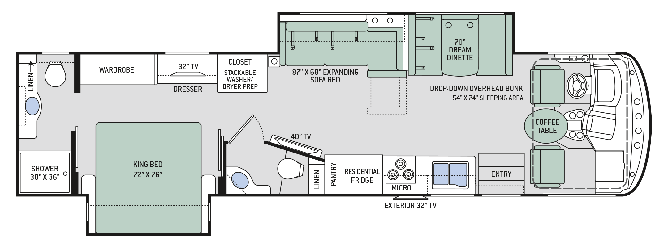 Floor Plans Hurricane 35m Floor Plans Camping World Rv Sales Motorhomes For Sale
