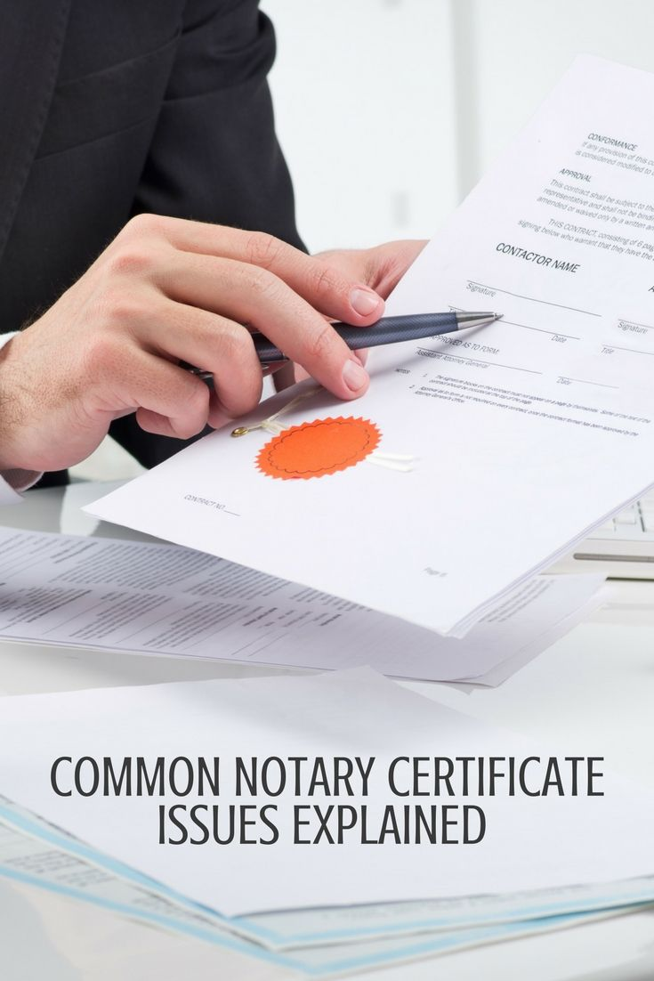 Common Notary Certificate Issues Explained Pinterest Certificate