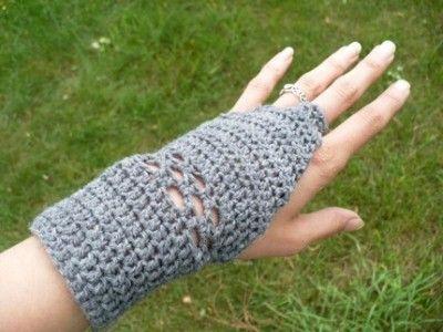 Crochet Pattern Simple Fingerless Gloves Stuff I Made Pinterest