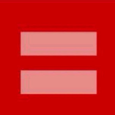 The Equal Sign Represents Equality For All People It S Normally Blue And Yellow But Today It S Red For Hope Equals Sign Marriage Equality Close To My Heart
