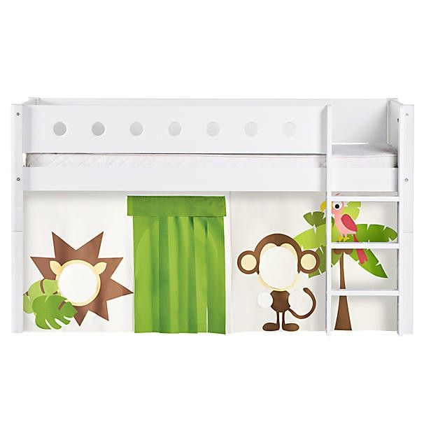 Flexa Thuka Halfhoogslaper.Flexa White Halfhoogslaper Jungle Tristan Home Decor Bed Furniture