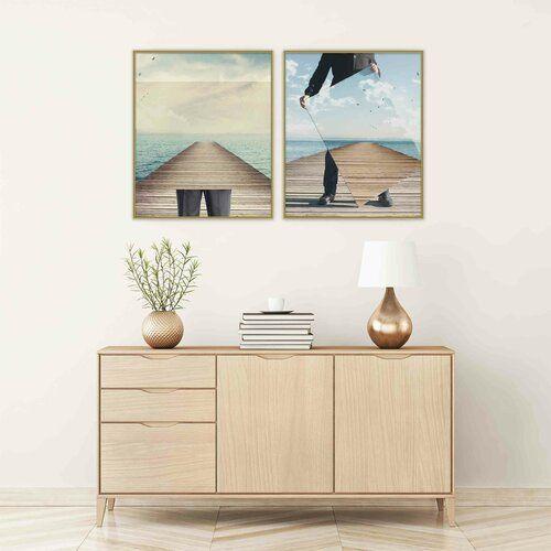 Photo of Bilderrahmen Crabill 17 Stories Farbe: Kontrastgrau, Size (picture): 84,1 cm H x 59,4 cm B