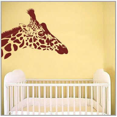 So Excited About My Giant Giraffe Decal For My Living Room! I Ordered Him  In Matte Gold, He Will Be Magnificent! BIG Giraffe Vinyl Wall Art Decal By  On Etsy