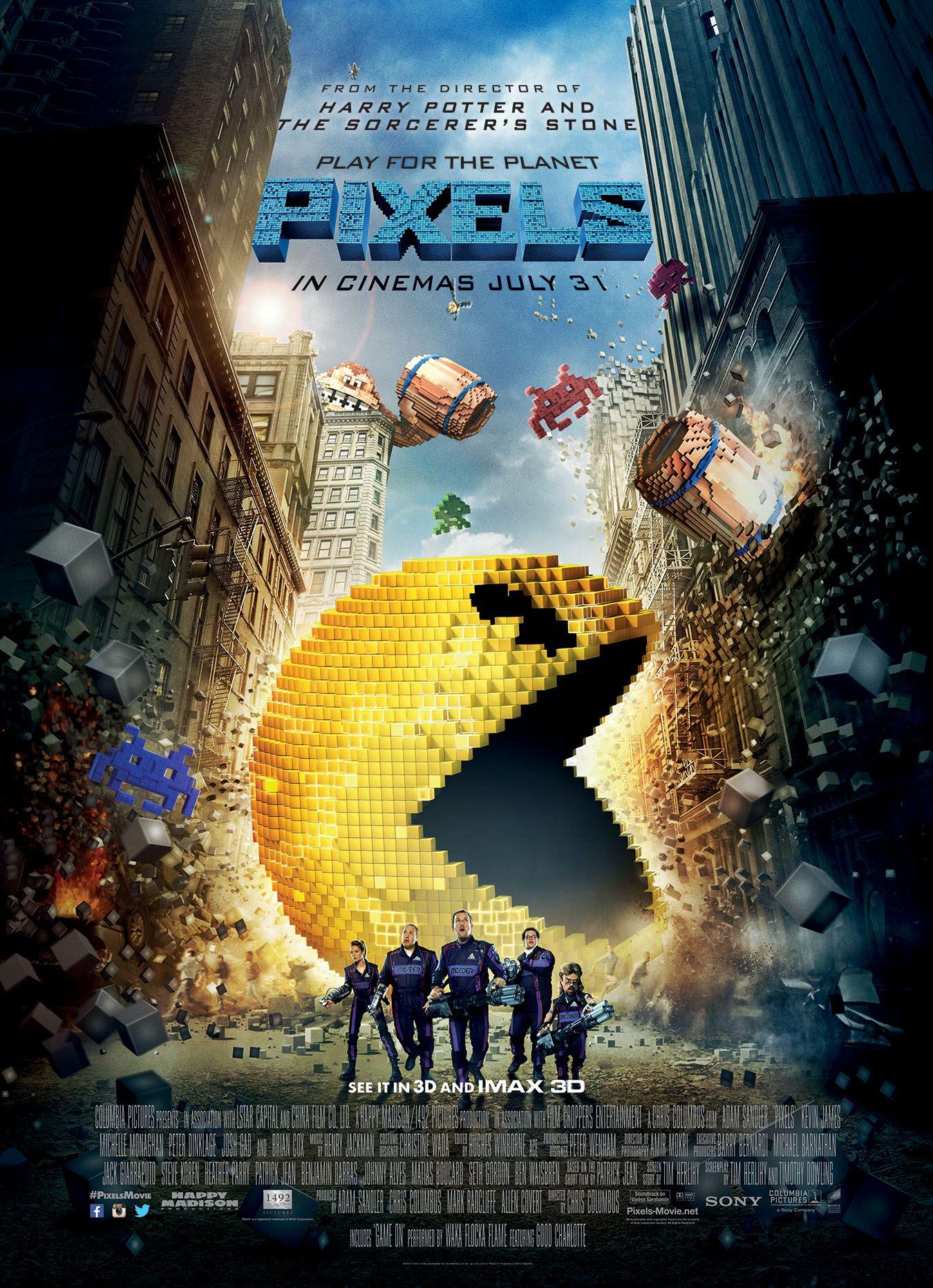 "Pixels Pac Man Movie Poster Mini Poster 11/""x17/"""
