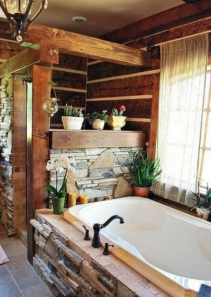Pin by Voni Saxbury on Bathrooms in 2018 Log home bathrooms, Home