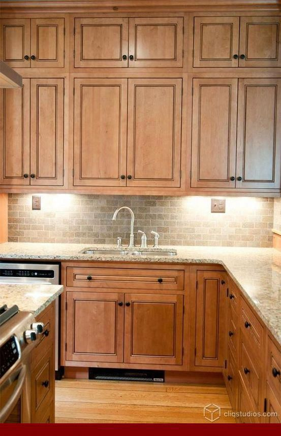 Learning about - oak cabinets with gray quartz countertops ... on Gray Countertops With Maple Cabinets  id=45529