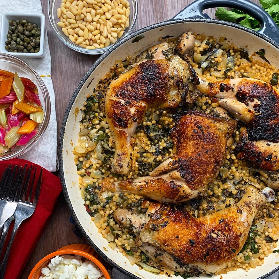 One Pot Chicken Chard And Couscous Dinner Recipe In 2020