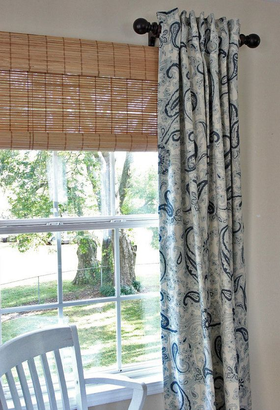 Custom Dry Panels Over A Woven Wood Roman Shade In 2019