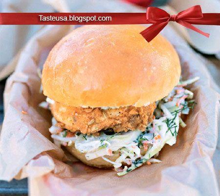 Fried Chicken Sandwich With Fennel Slaw Recipe Food Truck Recipe