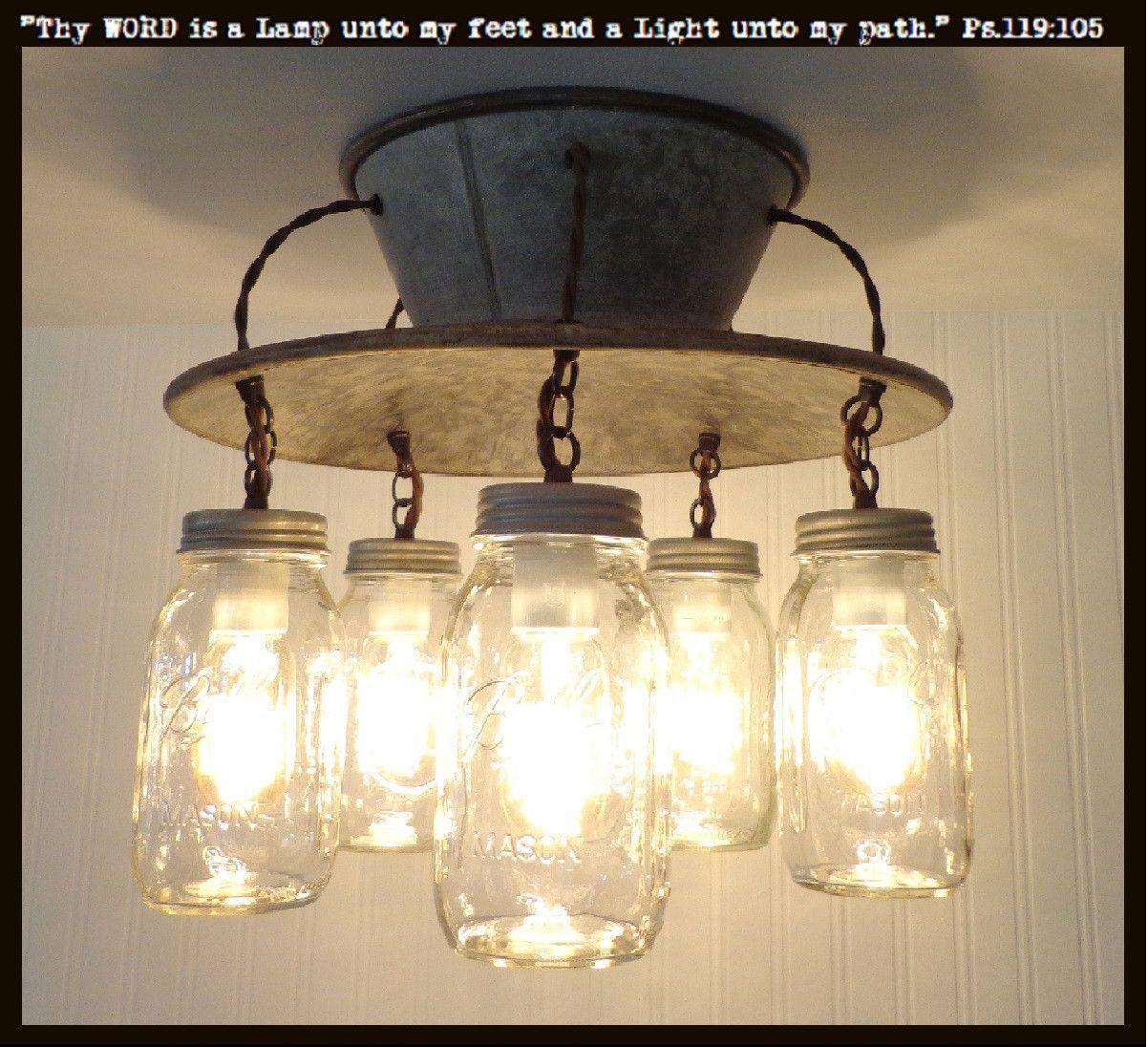 Light Fixture Plate An Exclusive Lamp Goods' Mason Jar Light 5Light  Mason Jar Light