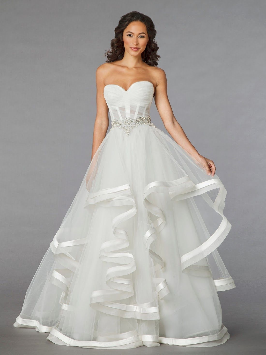 Pearl belt for wedding dress  Thanks to  WhimsyBride  for featuring this gown with satin and