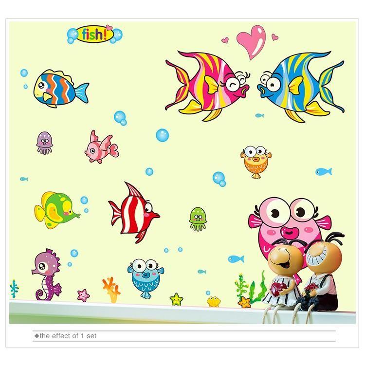Wandtattoo Wandaufkleber Kinderzimmer Badezimmer Fische Dekoration Wandaufkleber Kinderzimmer Wandtattoo Kinder Zimmer