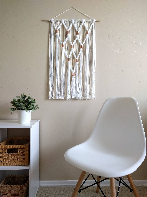 modern macramé wall hanging tassels wall tapestry home on hygge wall decor id=36843