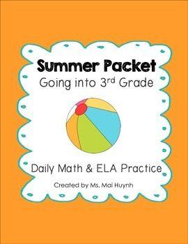6th grade ela summer work packet