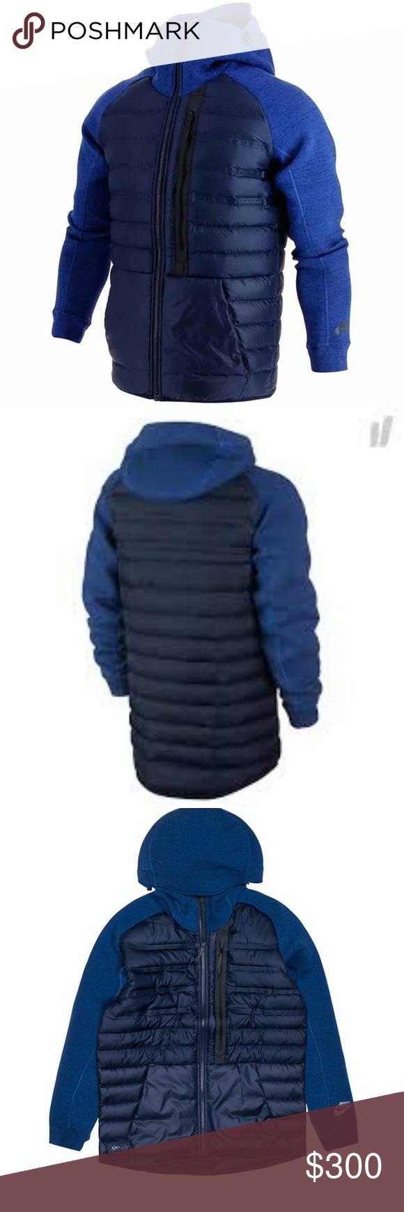 Nike Tech Fleece Aeroloft Jacket Blue Goose Down NWT (With