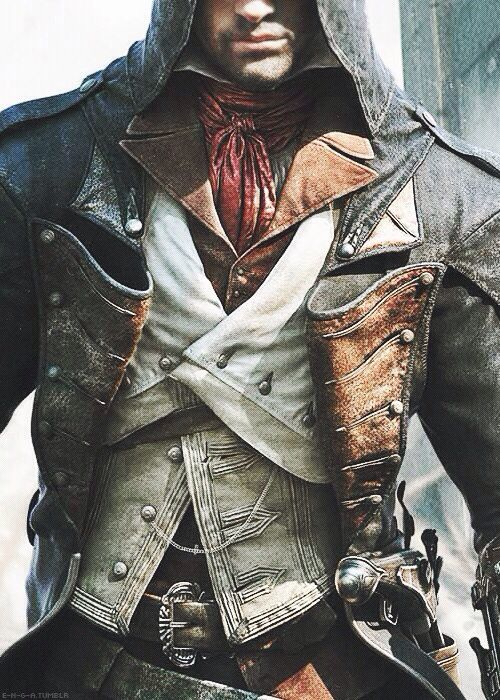 Assassins Creed Unity - I love that Arno wears the traditional red sash as a necktie