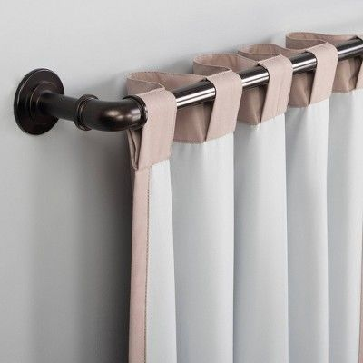 63 X40 Cyrus Thermal Total Blackout Back Tab Curtain Panel Pink