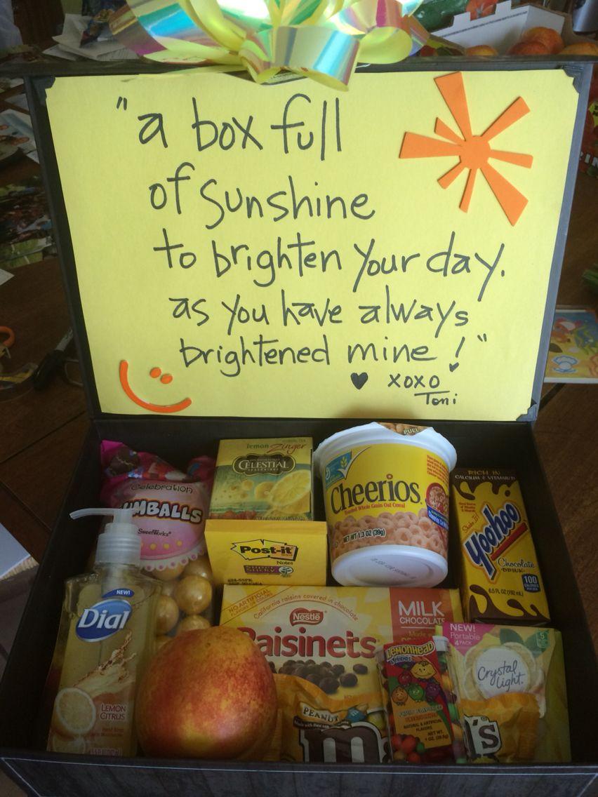A Box Full Of Sunshine Box Of Sunshine Ideas Diy G