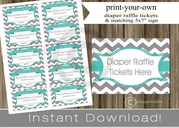 photograph about Free Printable Diaper Raffle Ticket Template Download identify Pin upon Babyshower