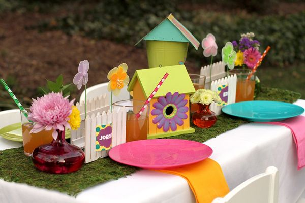 diy decorating ideas for a kids spring party - Spring Party Decorating Ideas