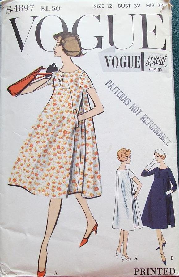 Vogue S-4897; Sz 12/Bust 32 | bindallı | Pinterest | 60er, Vintage ...