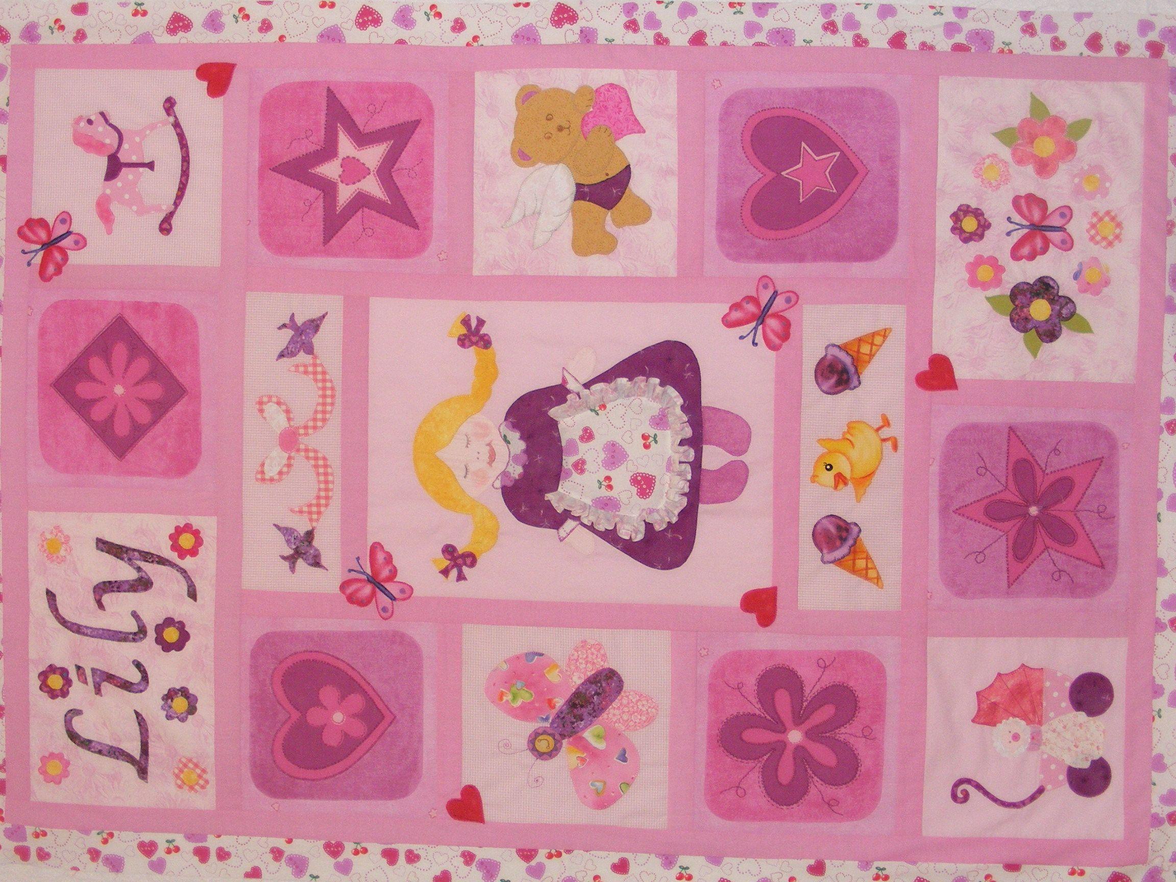 Own design applique little girl quilt!