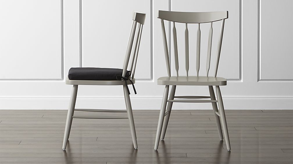 Beau Willa Dove Wood Dining Chair And Cushion