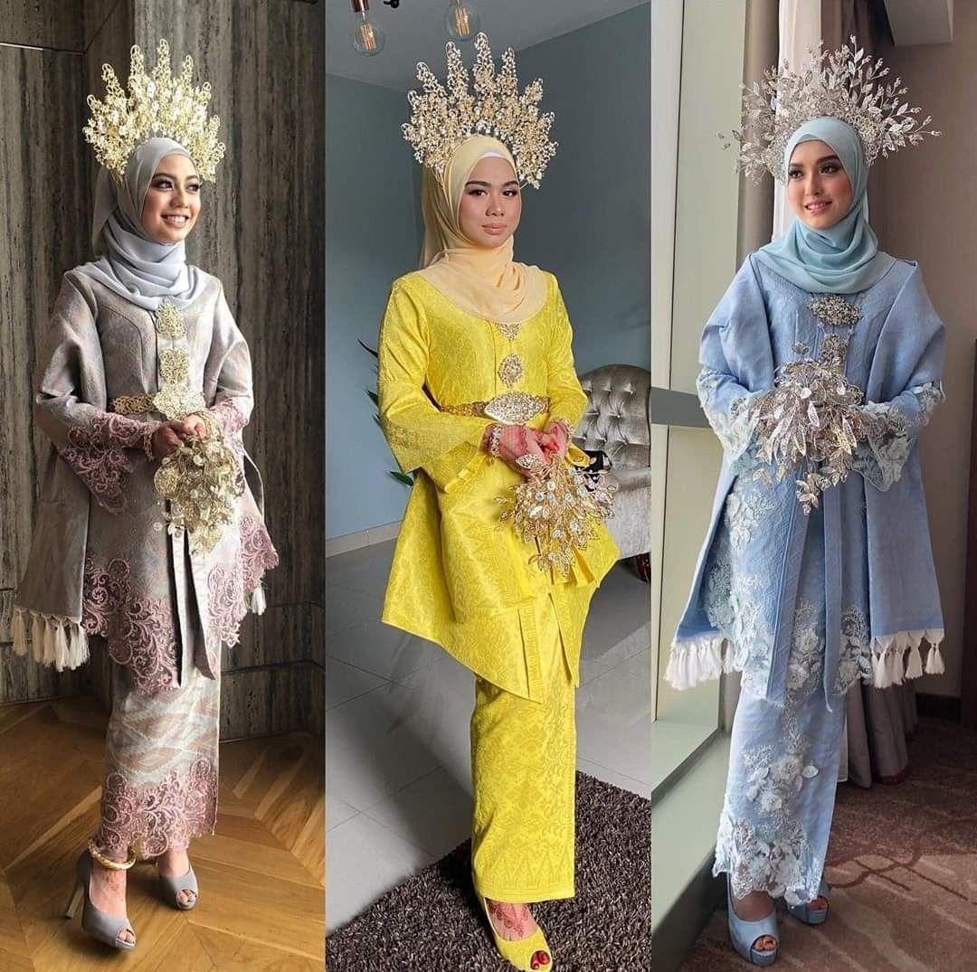 Baju sanding songket in 9  Fantasy wedding dresses, Nikah
