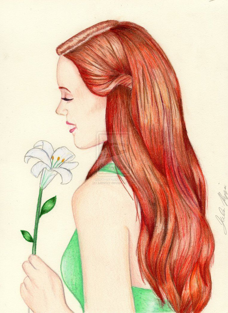 Lilys Colored Pencil Drawing By Julesrizz On Deviantart Kristina Webb Pencil Drawings How To Draw Hair