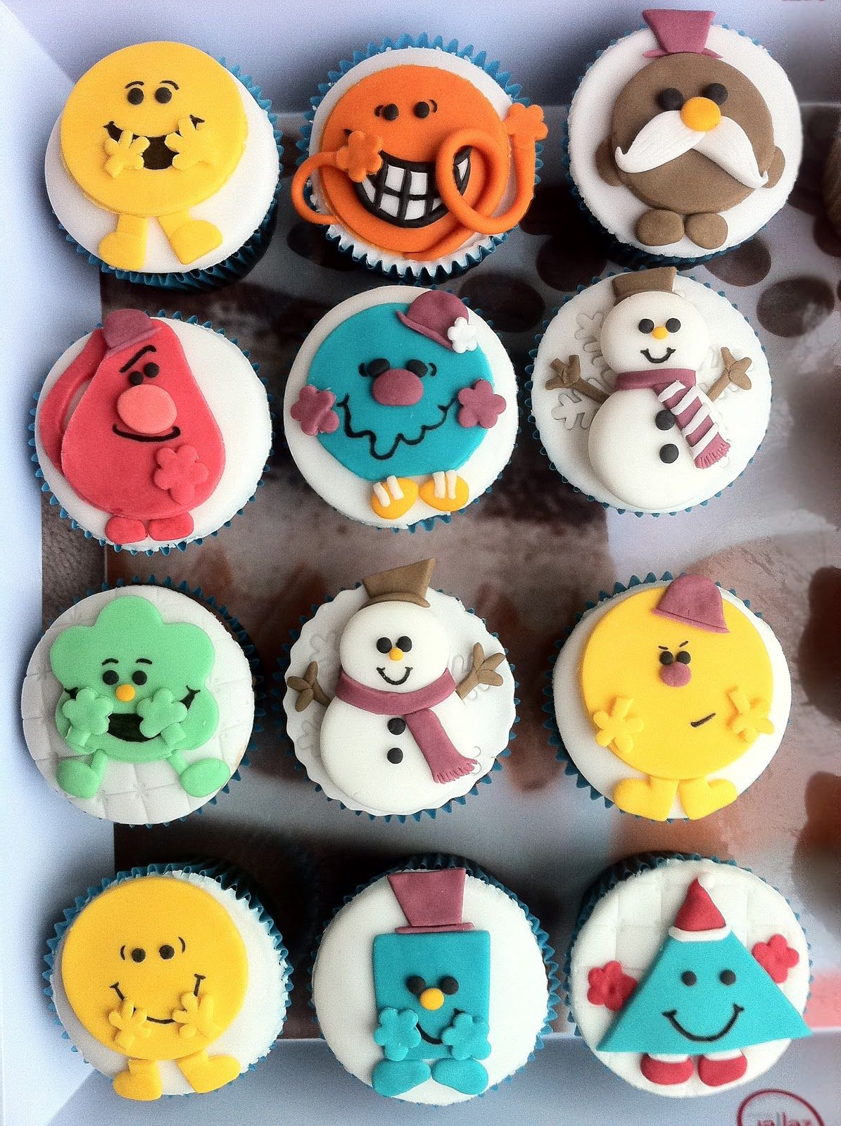 Mr Men And Little Miss Christmas Cupcakes Mr Men And