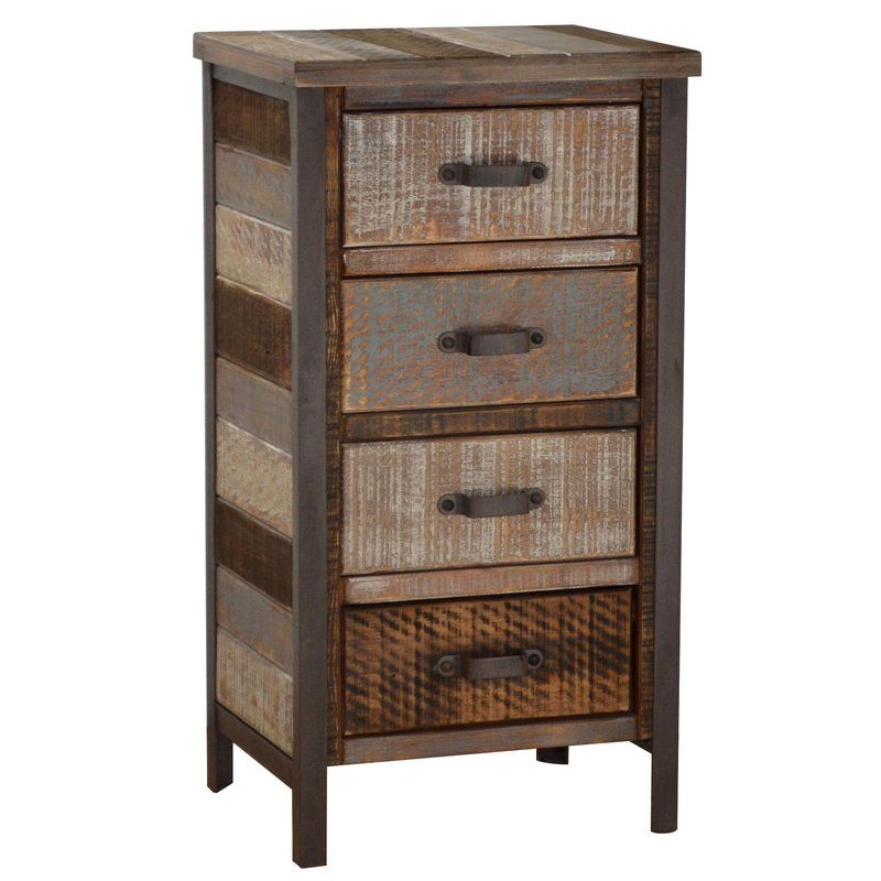 Clayera 4 Drawer Nightstand Accent Cabinet Small Linen Closets Cabinet