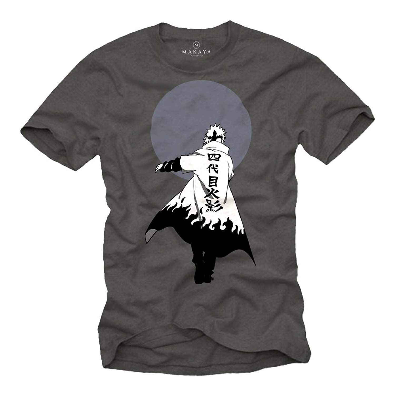 8ac0ae219 Minato Namikaze Ninja Coat T-Shirt T-Shirt color dark gray, print white