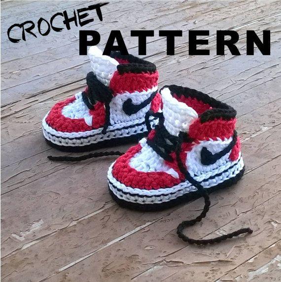 PATRON Zapatillas crochet estilo Air Jordans . por ShowroomCrochet ...